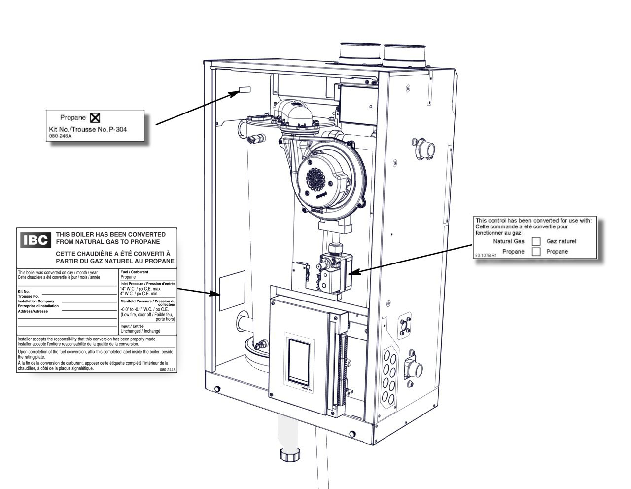 installing the boilers concept drawings ibc better boilers ibc sl rh dbmovies us Home Boiler Wiring Gas Boiler Wiring